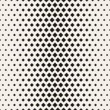 Halftone Net van modieuze Minimalistic Vector naadloos zwart-wit patroon Stock Afbeeldingen