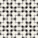 Halftone Net van modieuze Minimalistic Vector naadloos zwart-wit patroon Royalty-vrije Stock Fotografie