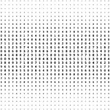 Halftone numbers background. Halftone effect vector pattern. Cir Stock Image