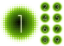 Halftone numbers blue Stock Photography