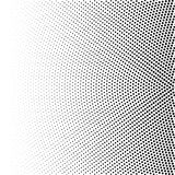 Halftone Of Radial Gradient With Black Dots. Dotted Halftone Digital Background Isolated On White. Vector Pattern Stock Photos