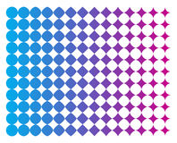 Halftone Offset Background. Vector Background Inspired in Halftone Offset Pattern Royalty Free Stock Image