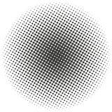 Halftone okręgi, halftone kropek wzór Monochromatyczny brzmienie ilustracji