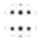 Halftone okręgi, halftone kropki wzór ilustracji