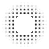 Halftone okręgi, halftone kropki wzór ilustracja wektor