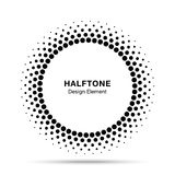 Halftone okręgu wektorowa rama kropkuje loga emblemat, projekta element dla medycznego, traktowanie, kosmetyk ilustracji