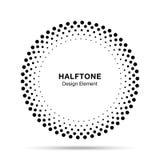 Halftone okręgu wektorowa rama kropkuje loga emblemat, projekta element dla medycznego, traktowanie, kosmetyk ilustracja wektor