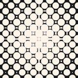 Halftone okręgu wzór Geometryczna bezszwowa tekstura z okręgami, kwadraty, kropki royalty ilustracja