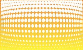 Halftone orange background. With white dots Stock Image