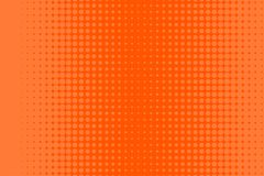 Halftone orange banner. Halftone banner. Abstract comic, cartoon background with dots, circle, sale flyer, retro card, tech background, techno template. Vector Royalty Free Stock Photos