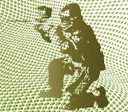 Halftone paintball. Illustration of background with halftone paintball Royalty Free Stock Photos