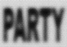 Halftone party background. Dance vector halftone party background Stock Image