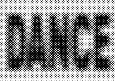 Halftone party background. Dance vector halftone party background Stock Photography