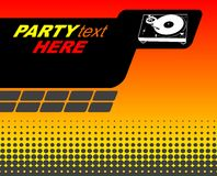 Halftone party flyer. With turntable Stock Images