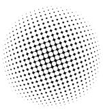 Halftone pattern. Black and white halftone pattern - vector illustration Royalty Free Stock Images