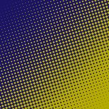Halftone pattern background. Blue and yellow color. Comic dots background. Vector background Stock Images