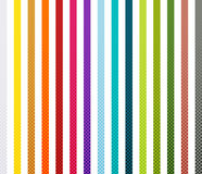 Halftone pattern collection Stock Image