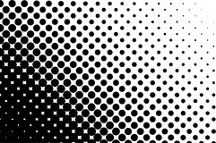Halftone pattern. Comic background. Dotted retro backdrop with circles, dots. Black and white stock illustration