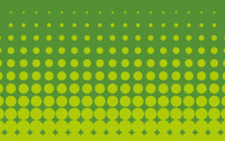 Halftone pattern. Comic background.  Green color. Halftone pattern. Comic background. Dotted retro backdrop with circles, dots. Design element for web banners Royalty Free Stock Photos