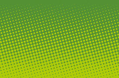 Halftone pattern. Comic background.  Green color. Halftone pattern. Comic background. Dotted retro backdrop with circles, dots. Design element for web banners Stock Image