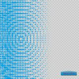 Halftone pattern vector.blue the circles to the background squares. Vector Royalty Free Stock Photography