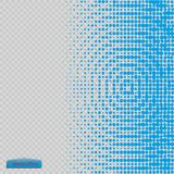 Halftone pattern vector.blue the circles to the background squares. Stock Images