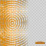 Halftone pattern vector.blue the circles to the background squares. Vector Stock Image
