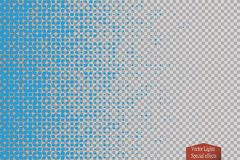 Halftone pattern vector.blue the circles to the background squares. Vector Royalty Free Stock Photos