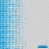 Halftone pattern vector.blue the circles to the background squares.  vector illustration