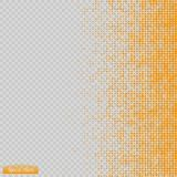 Halftone pattern vector.blue the circles to the background squares. Royalty Free Stock Photo