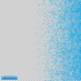 Halftone pattern vector.blue the circles to the background squares. Stock Image