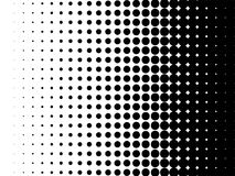 Halftone pattern vector dot gradient background. Radial halftone pattern texture. Vector black and white radial dot gradient background for retro, vintage royalty free illustration