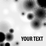 Halftone pattern on white Stock Photography