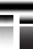 Halftone patterns Stock Images