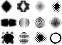 Halftone patterns royalty free illustration