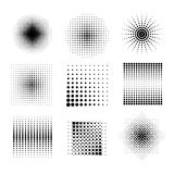 Halftone patterns Royalty Free Stock Images