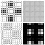 Halftone patterns Stock Image