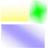 Halftone Patterns. Set of  Halftones Stock Photos