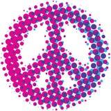 Halftone Peace Symbol Stock Image