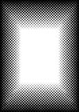 Halftone picture frame border Royalty Free Stock Photography