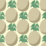 Halftone pineapples in pastel shades, seamless pattern, Royalty Free Stock Photos