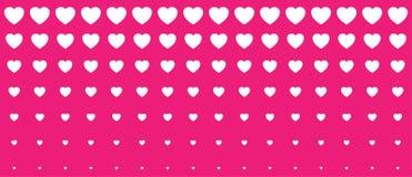 Halftone Pink Hearts Gradient Background. Valentines Day Design Illustration Card. Wedding Invitation Card backdrop. Design element of background for medical Stock Image