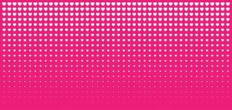 Halftone Pink Hearts Gradient Background. Valentines Day Design Illustration Card. Wedding Invitation Card backdrop. Design element of background for medical Stock Images