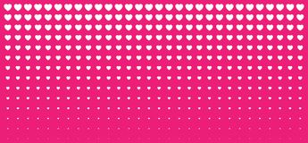 Halftone Pink Hearts Gradient Background. Valentines Day Design Illustration Card. Wedding Invitation Card backdrop. Design element of background for medical Royalty Free Stock Images