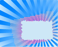 Halftone postcard Royalty Free Stock Images