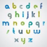 Halftone print dots textured stylish modern font. Royalty Free Stock Photography