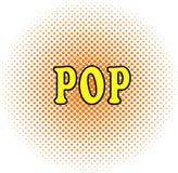 Halftone punt wirhn woord als achtergrond POP in pop-artstijl royalty-vrije illustratie
