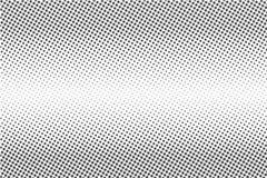 Halftone punten Zwart-wit vectortextuurachtergrond voor prepress, DTP, strippagina, affiche Het malplaatje van de pop-artstijl stock illustratie