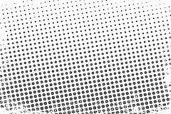 Halftone punten Zwart-wit vectortextuurachtergrond voor prepress, DTP, strippagina, affiche Het malplaatje van de pop-artstijl