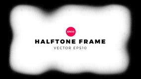 Halftone puntenachtergrond, golfvorm, vectorillustratie stock illustratie